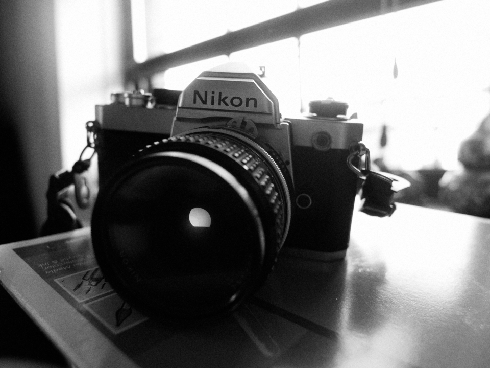 "The Nikon FM1: It is not just a Nikon FM1, but The Nikon FM1. Every FM1 begins with a ""The."" When you press the shutter, you feel it driving through the fucking earth like it's pudding."