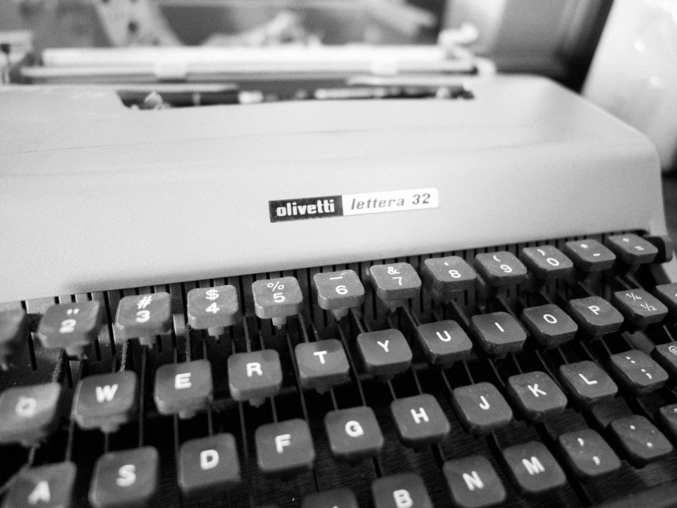 Screw those Royal Typewriters. If you actually want to type and not just have a typewriter for show, the Olivetti Lettera 32 will make love with your fingers and spit out beautiful letters that sometimes make words and understandable human phrases.